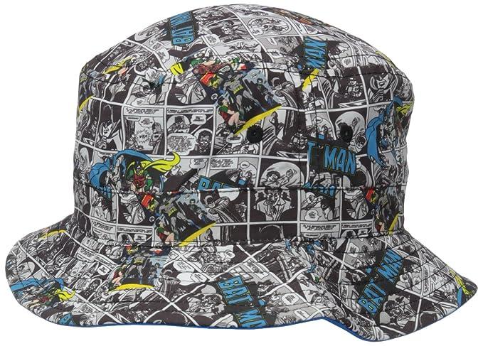 cad900d7867d5 DC Comics Boys  Batman All Over Print to Solid Reversible Bucket Hat