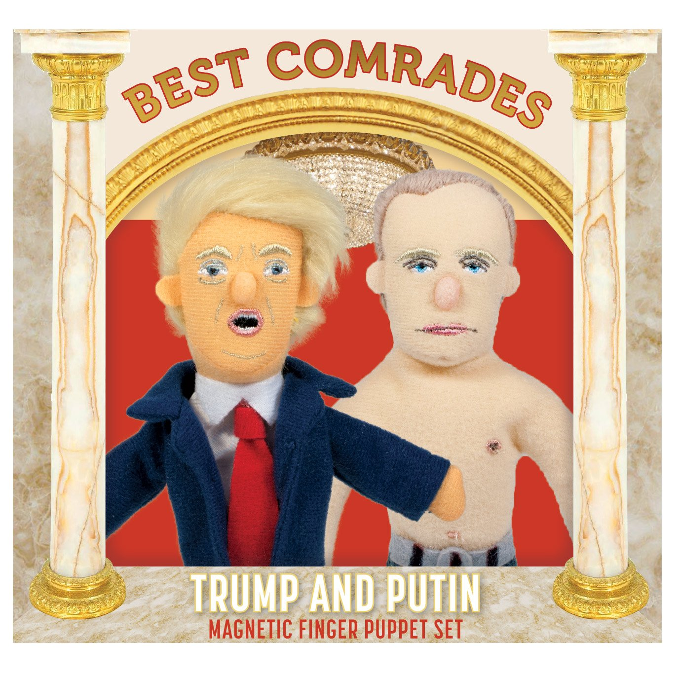 The Unemployed Philosophers Guild Best Comrades Trump & Putin Finger Puppet Set UPG5044
