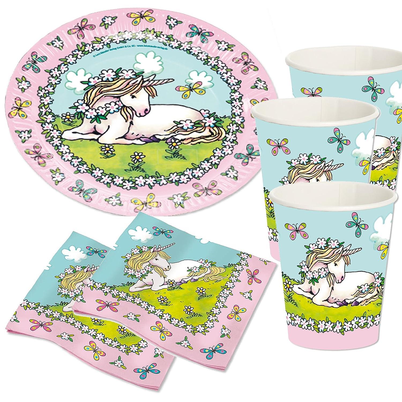 37 piezas Party * Unicornio * con platos, vasos, servilletas ...