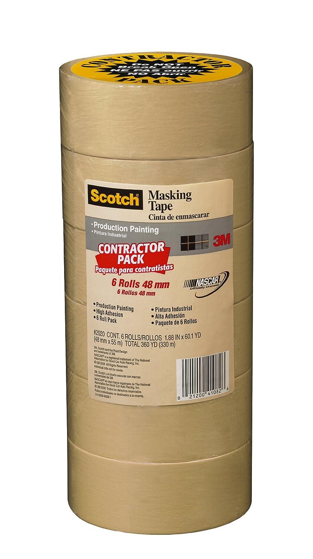 Scotch 2020-2A-CP 2020-48A-CP Masking Tape 1.88 Inch x 60.1 Yards Beige 3M