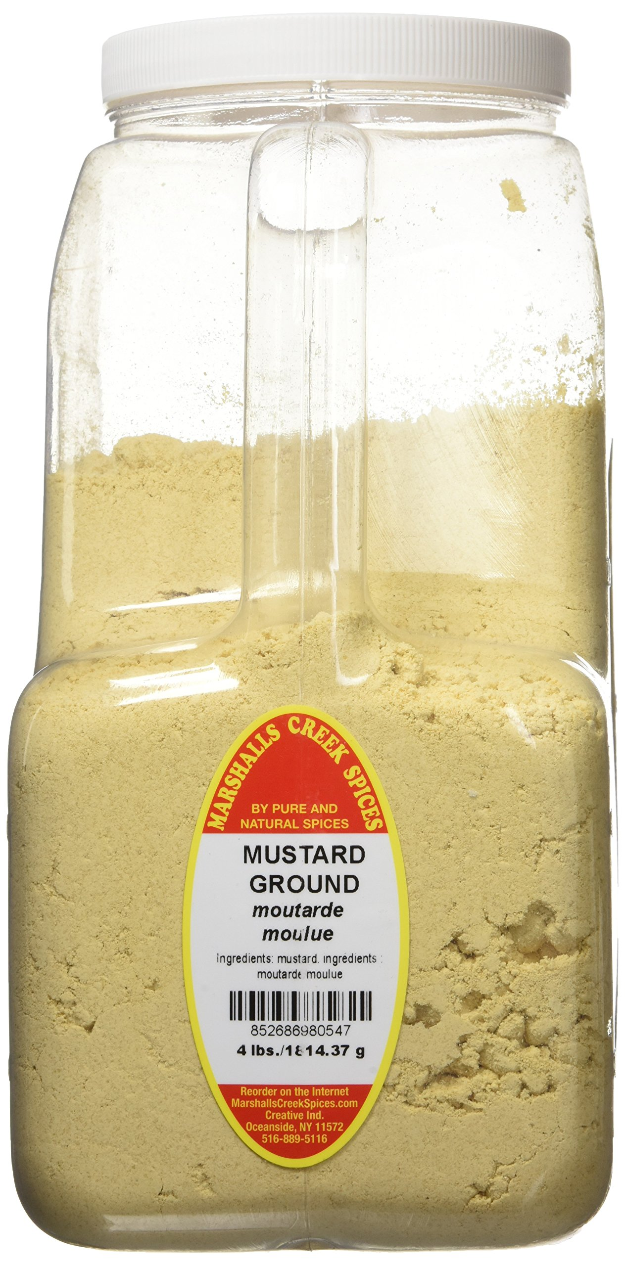 Marshalls Creek Spices XXL Restaurant Size Spice Jug, Mustard Seed Ground, 4 Pound by Marshall's Creek Spices (Image #1)