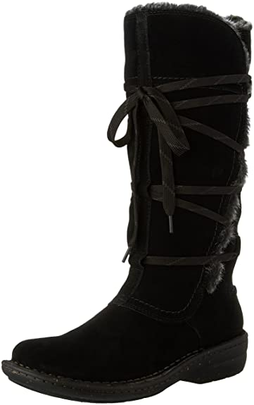 Clarks Women's Avington Hayes Lace Up Boot,Black Combination Cow Suede,US  ...