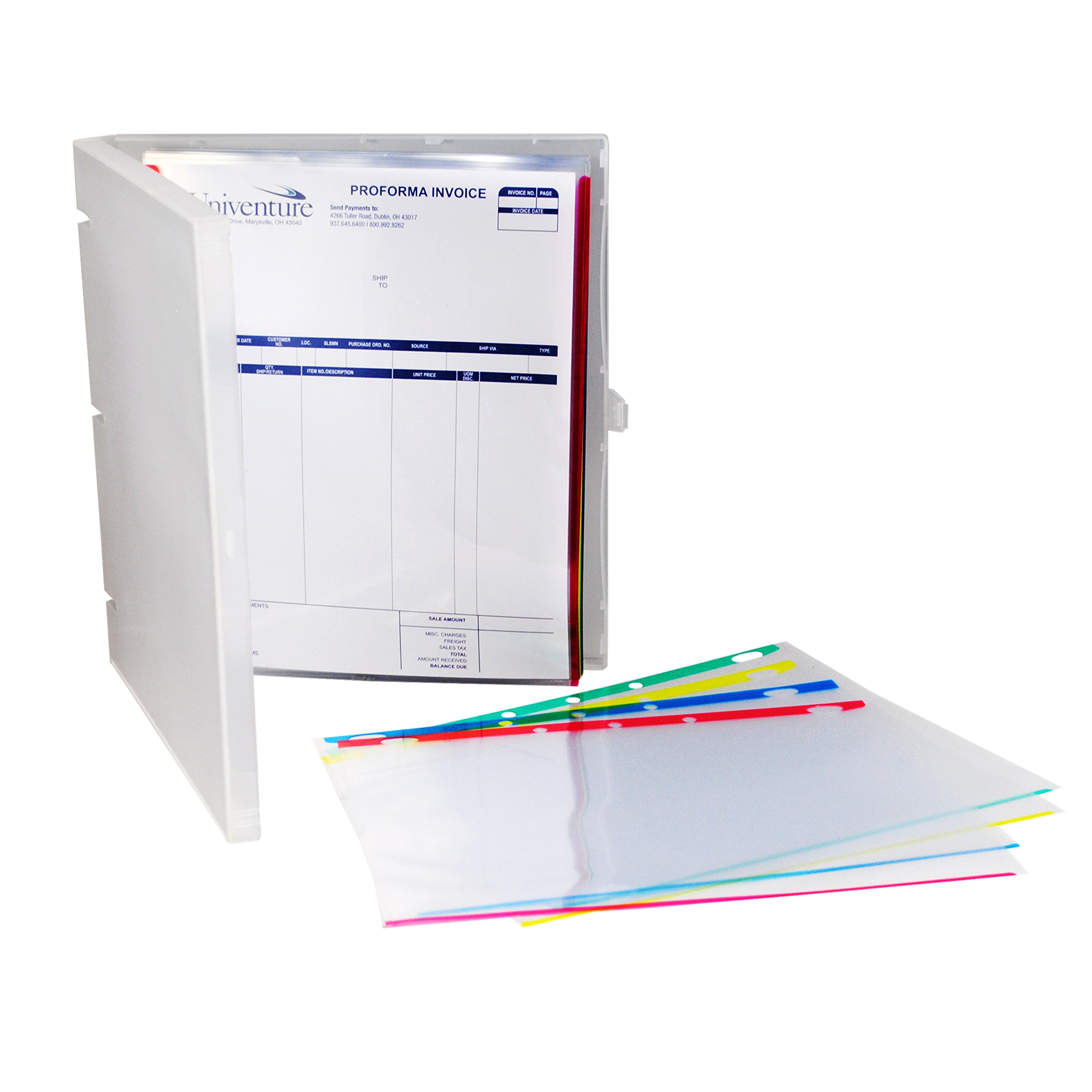 Sheet Protectors Color-Coded Edges 8.5 X 11 Pack of 100 (Assorted) by EnvyPak (Image #3)