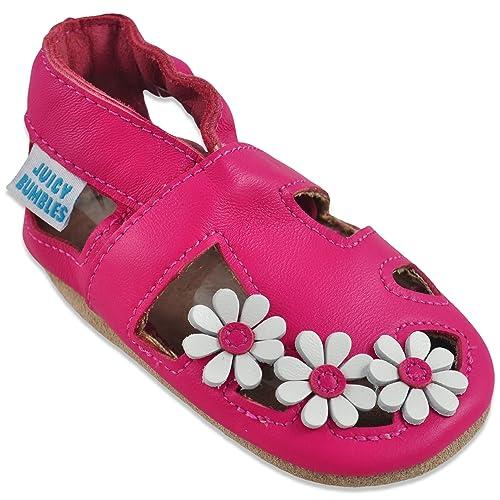 site réputé 9d222 1b2bf Sandales Bébé Cuir Souple - Chaussons Cuir Bébé - Chaussures Bebe Fille -  Chaussures Enfant Garçon - Spartiates Bébé 0-6 Mois à 2 Ans (19 à 25)