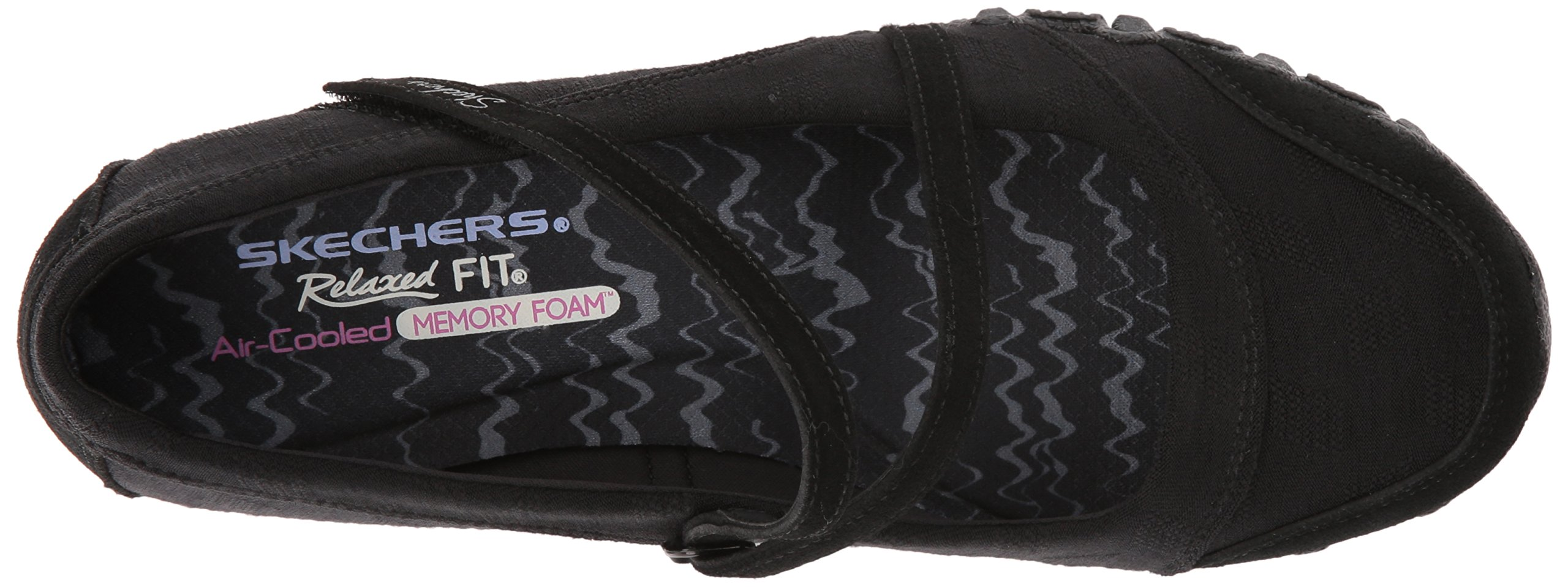 Skechers Women's Bikers -Fiesta Mary Jane Flat,7 M US,Black by Skechers (Image #8)
