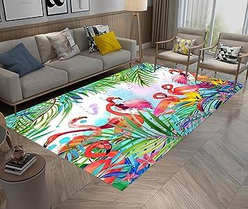 LB Bunte Tier Hintergrund, Flamingos, Wald, Blätter, Bereich Teppich,  Wohnzimmer Schlafzimmer