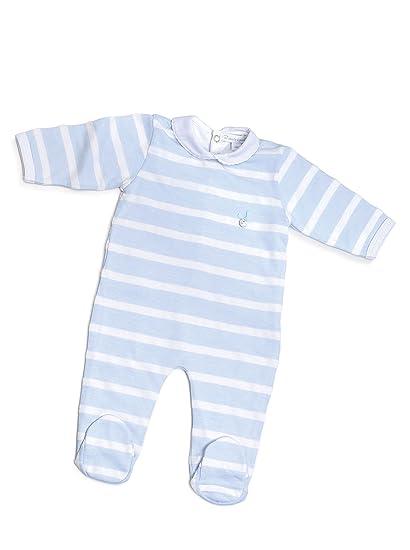 Pasito a Pasito Pijama Rayas Azul 3 meses