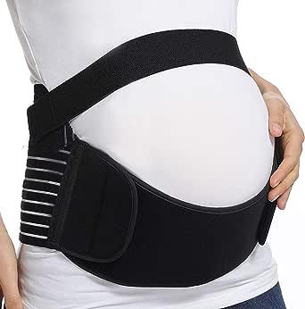 Tiernelle Faja para Embarazadas con Soporte para el Alivio del Dolor de Cadera, Pelvis, Lumbar y Espalda. Faja de Maternidad con diseño Transpirable y Ligero de 3 Piezas. Cinturon pelvico.