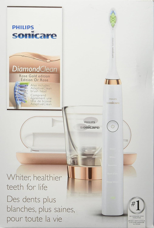 Philips Sonicare DiamondClean HX9392/05 Cepillo dental sónico Oro rosado cepillo eléctrico para dientes - Cepillo de dientes eléctrico (AC/batería, ...