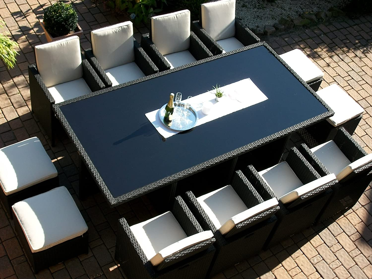 polyrattan rattan geflecht garten sitzgruppe toscana xxl. Black Bedroom Furniture Sets. Home Design Ideas