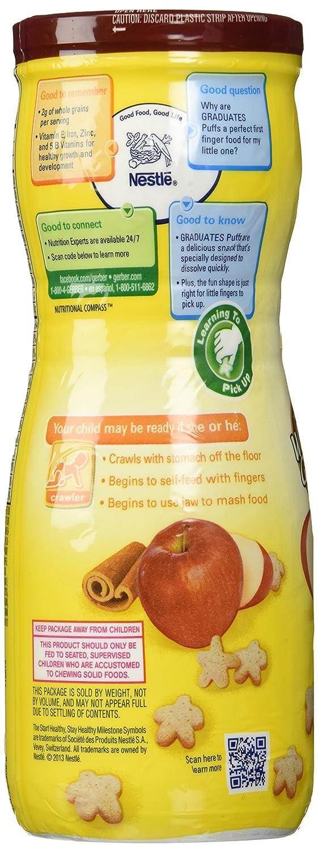 Gerber, Puffs Graduados, Manzana Canela, 1,48 oz (42 g): Amazon.es: Alimentación y bebidas