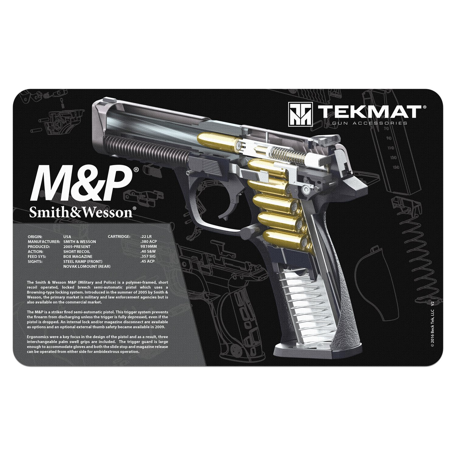 amazoncom tekmat smith wesson mp cleaning mat 11 x 17 thick