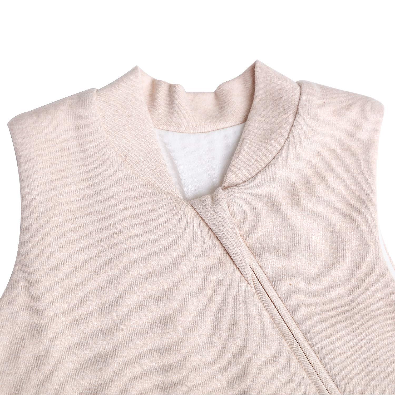 OuYun Baby Organic Sleeping Bag Autumn Detachable Sleeve Wearable Blanket