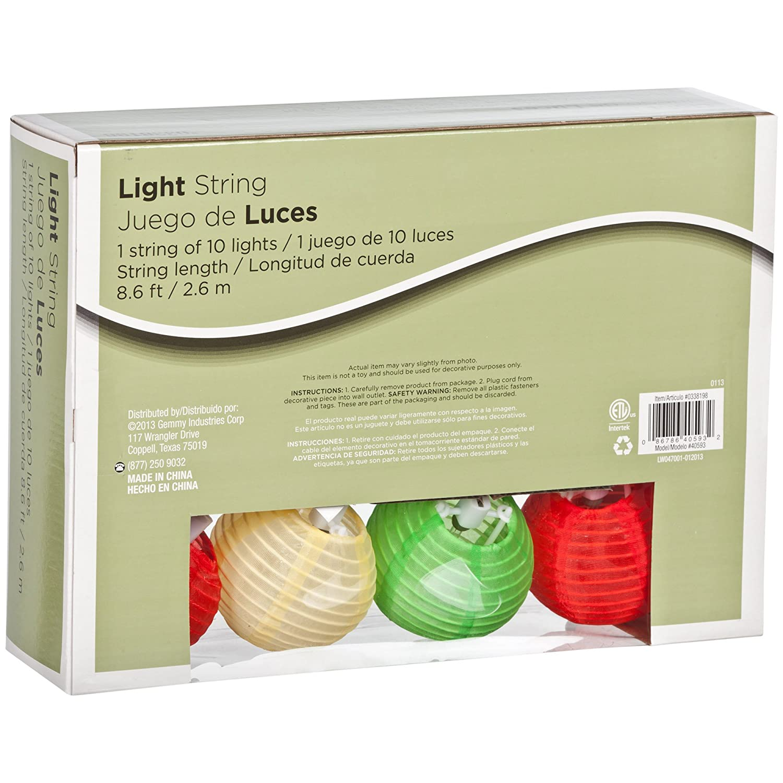 Amazon.com: Gemmy 10 Light Fiesta Lanterns Mini Light String 40593: Home & Kitchen