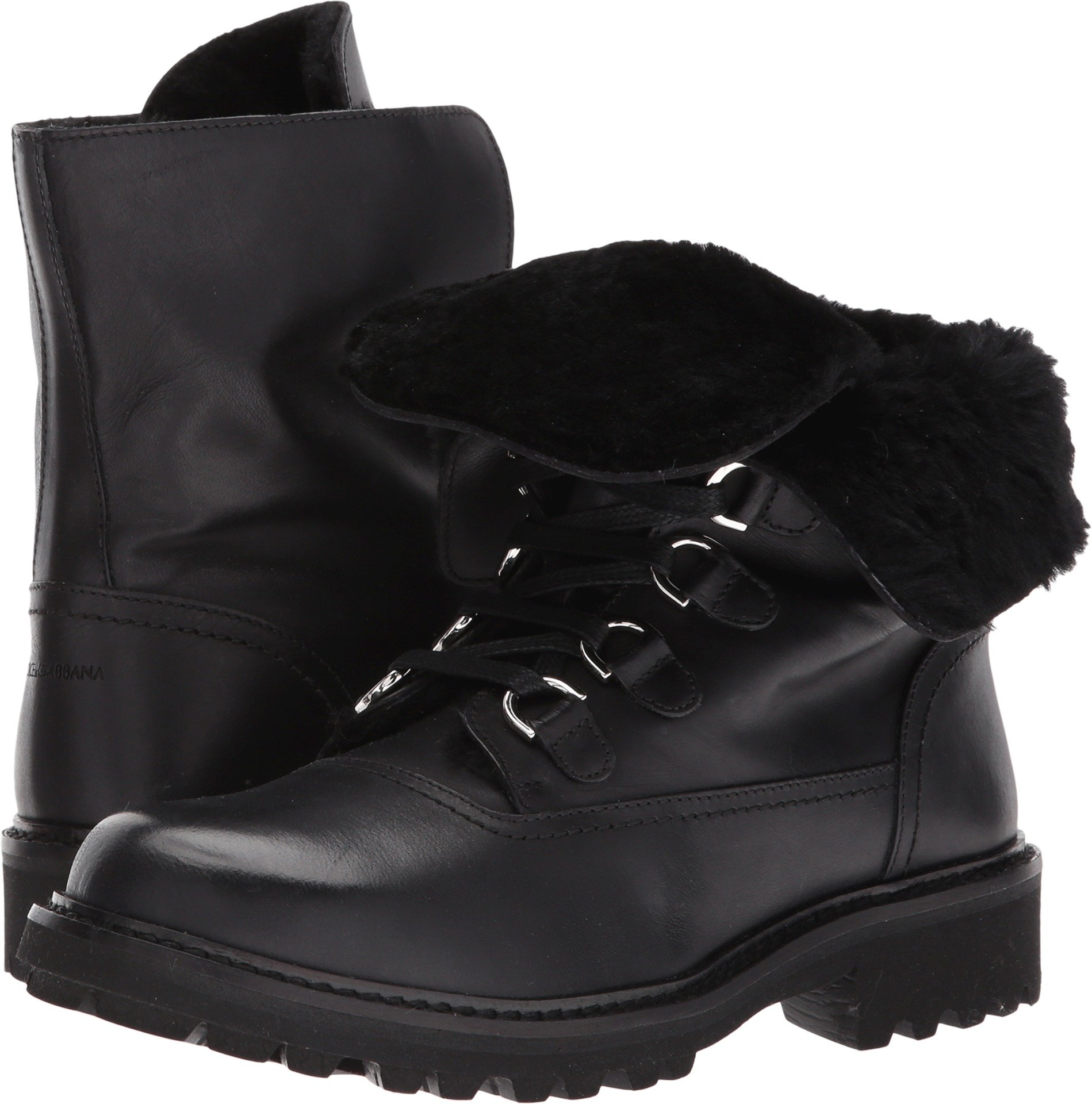 Dolce & Gabbana Kids  Boy's Lace-Up Boot (Little Kid/Big Kid) Black 33 M EU