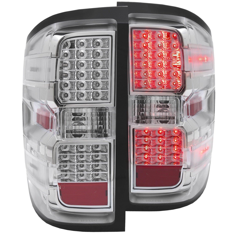 AnzoUSA 311214 Chrome LED Tail Light for Chevrolet Silverado