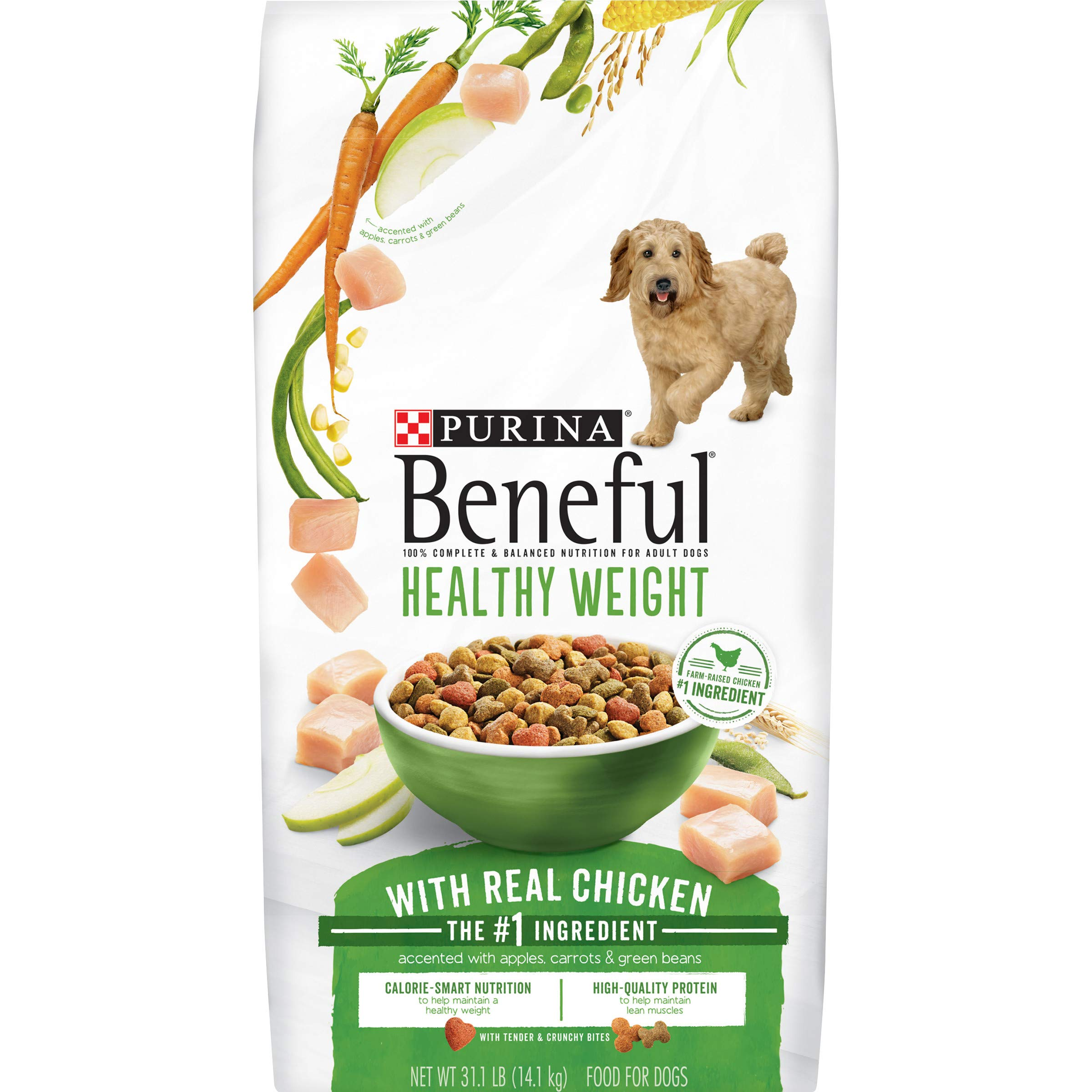 Purina Beneful Healthy Weight Dry Dog Food, Healthy Weight With Real Chicken - 31.1 lb. Bag by Purina Beneful