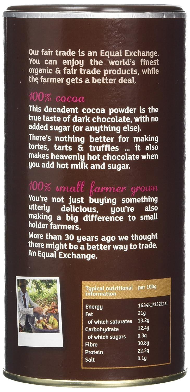 Equal Exchange Organic Cocoa Fairtrade 250 g (Pack of 2): Amazon ...