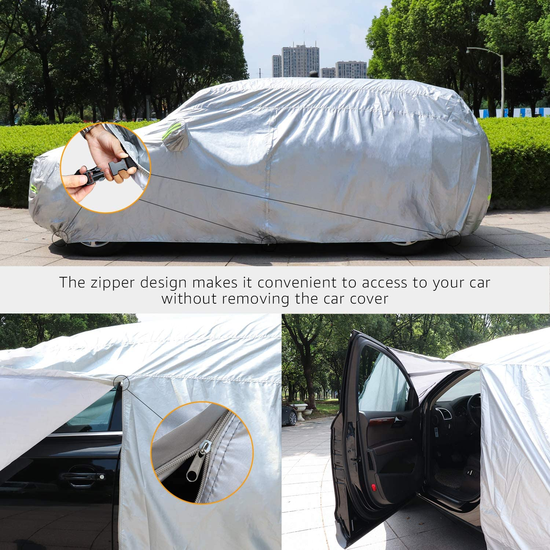 PEVA mit Baumwolle Limousinen bis 460/cm Basics silberfarben Wetterfeste Auto-Abdeckung