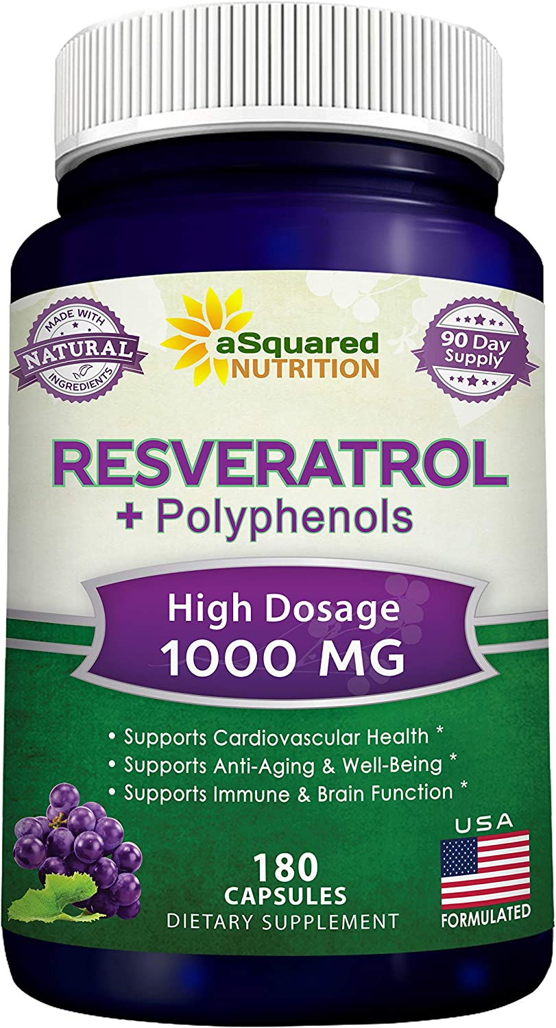 Amazon Com 100 Natural Resveratrol With Red Wine Extract 180