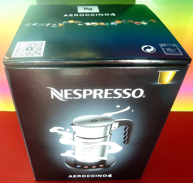 Nespresso aeroccino4New Model 4192-gb Milk Frother, Silver, 220–240V, Hot & Cold, for Cappuccino & Latte, Aeroccino, Brand New 220-240V B01D36EIYG
