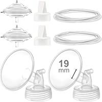 Maymom Pump Parts Compatible with Spectra S2 Spectra S1 Spectra 9 Plus Breastpump, Flange (19mm) Valve Tubing Backflow…