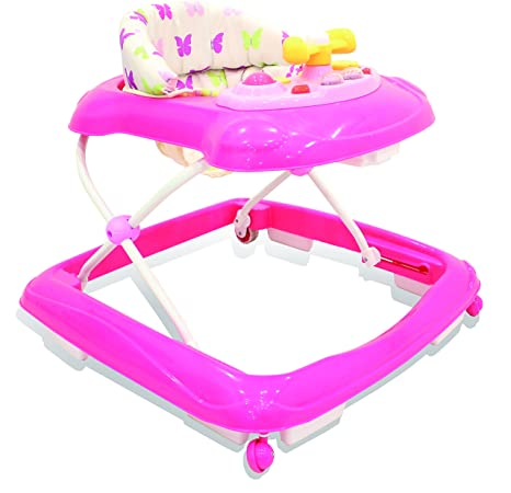Asalvo 13095 - Andador, diseño mariposas, color rosa