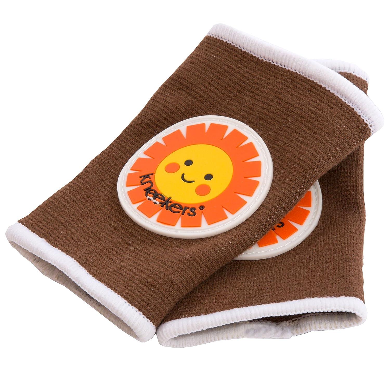 Kneekers - Rodilleras para bebé, diseño de sol feliz marrón Talla:Regular Ah Goo Baby KN-HSUN-11(REG)