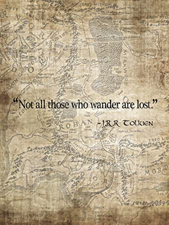 Amazoncom Not All Those Who Wander Are Lost Map Of Middle Earth