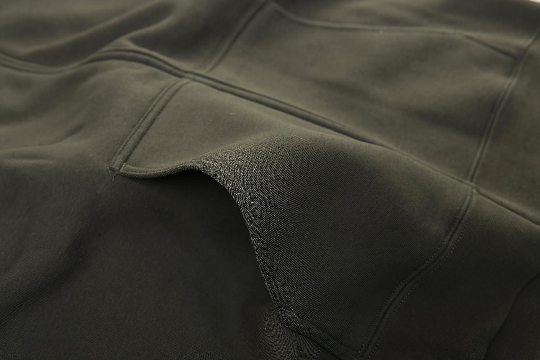 FORBIDEFENSE Mens Sweatshirt Hoodies Full Sleeve-Front Zip Premium Hood 2 Split Pocket