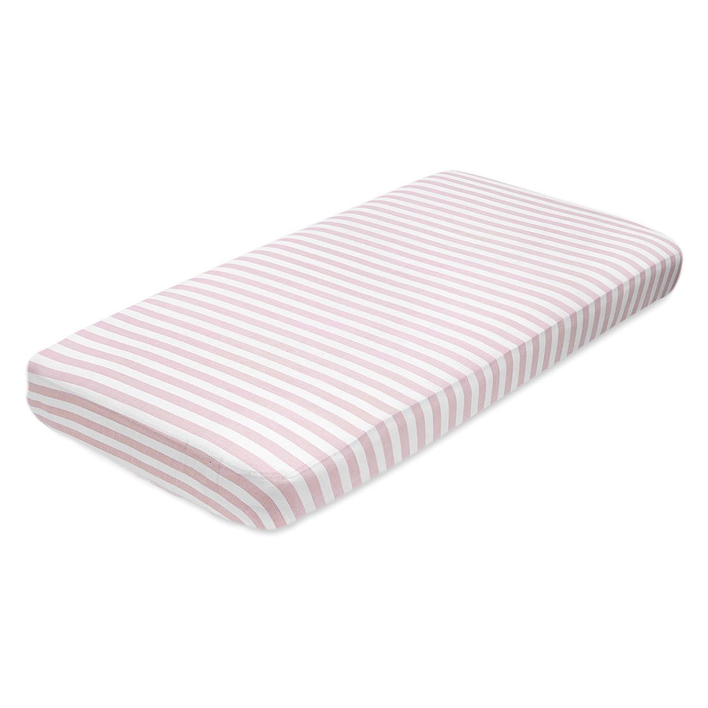 aden + anais crib sheet, heart breaker - blazer stripe