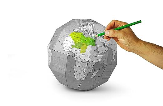 Amazon.com : DIY Scratch Assemble Globe Coloring World Map ...