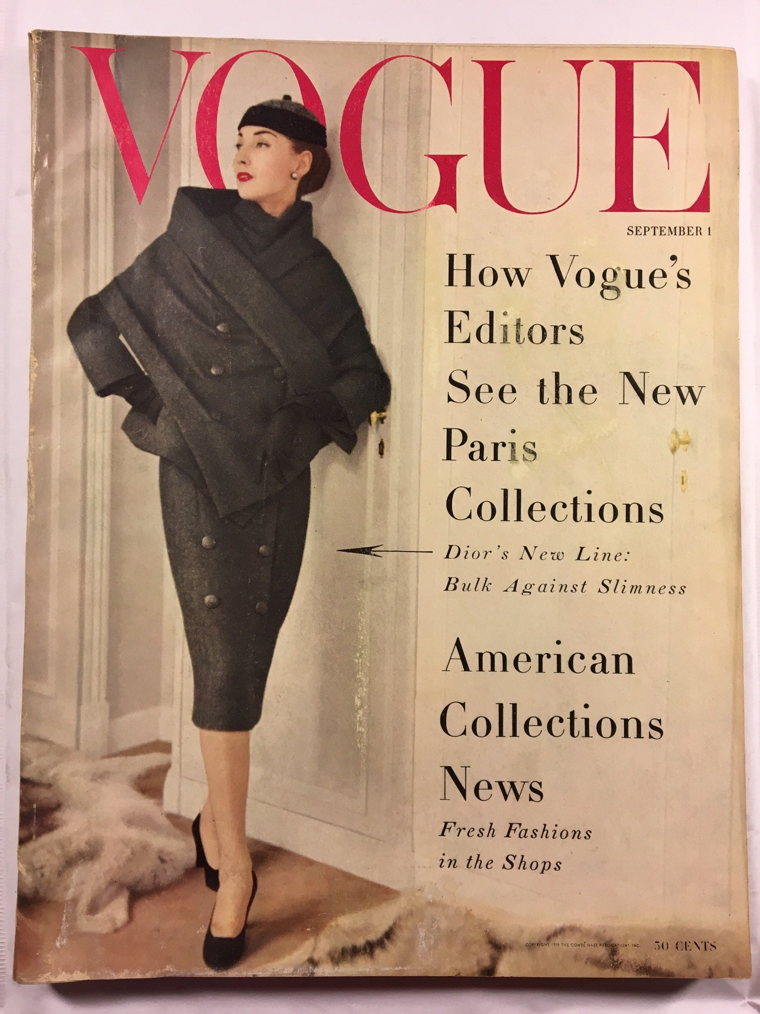 Vogue Magazine September 1955  Vintage Fashion 2eaa11576