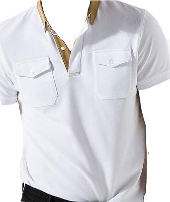 MASSIMO DUTTI - Polo - para Hombre Blanco Blanco M: Amazon.es: Ropa y accesorios