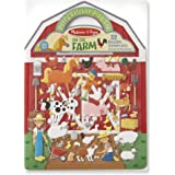 Melissa & Doug 9408 Puffy Sticker Play Set - On The Farm - 52 Reusable Stickers, 2 Fold-Out Scenes