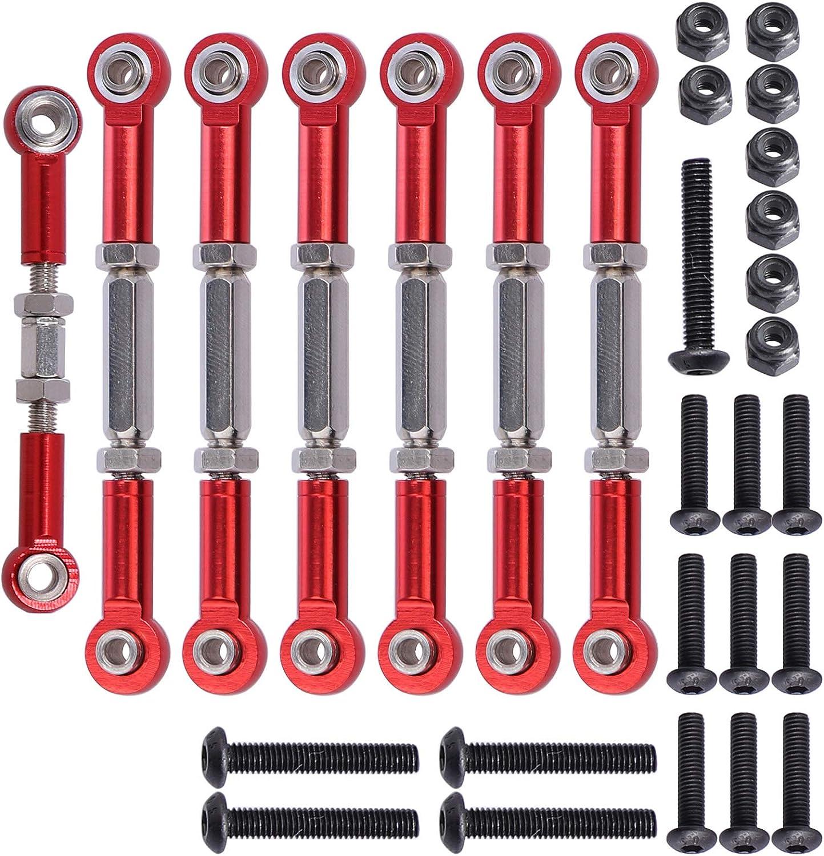 Aluminium Front /& Rear Turnbuckle Camber Links For Traxxas Rustler 4x4 Vxl