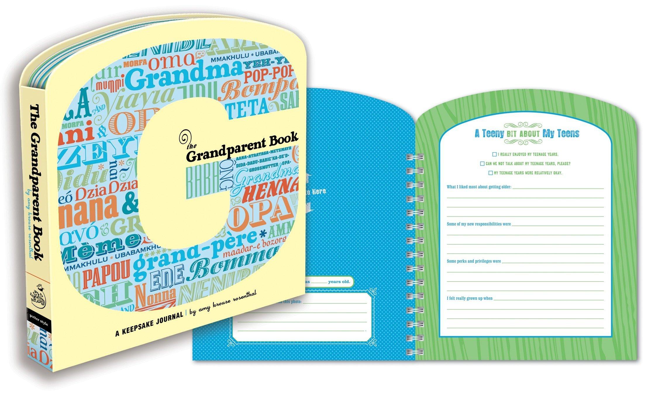 the grandparent book a keepsake journal amy krouse rosenthal 9780307453105 amazoncom books