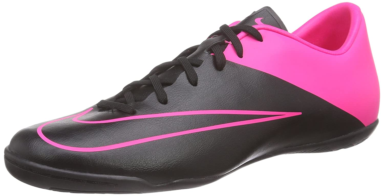 28f18165a7b0 Amazon.com | Nike Men's Mercurial Victory V IC Indoor Soccer Shoe (10)  Black, Hyper Pink | Soccer