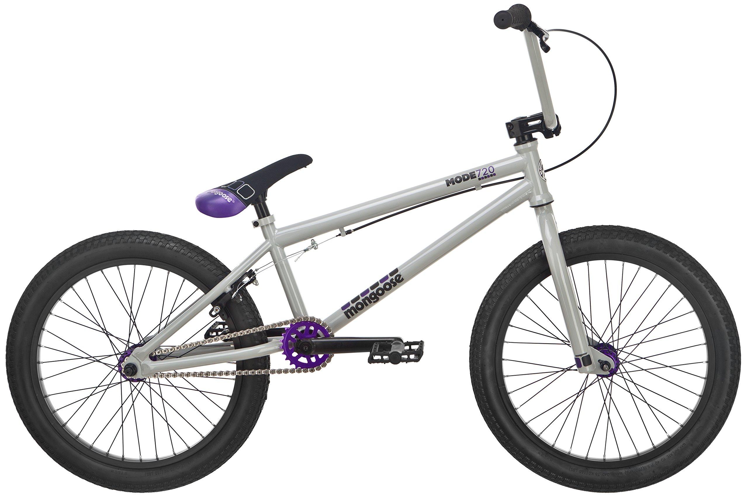 Mongoose Mode 720 20'' Freestyle Bicycle, Grey