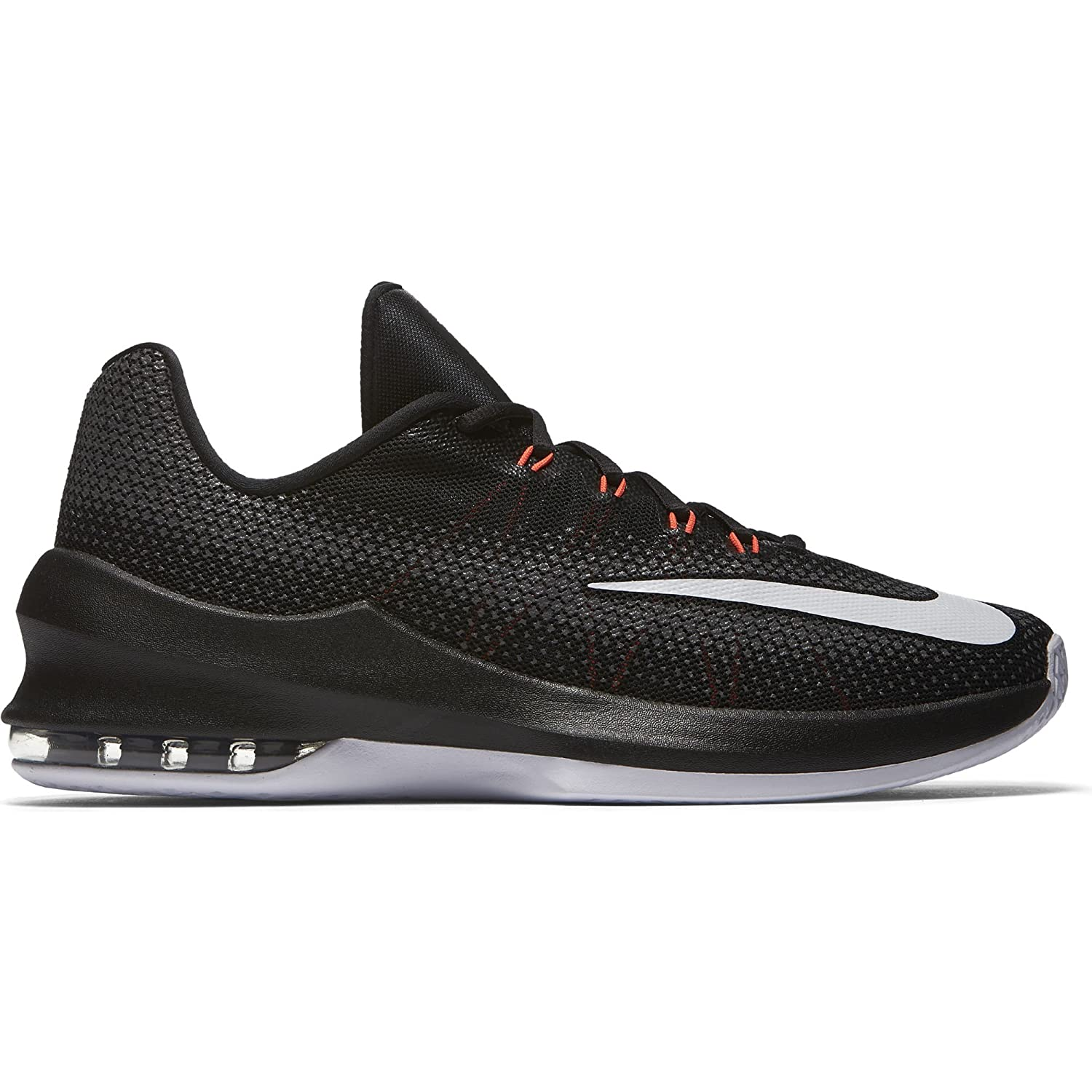 9d5f106880e Nike Men s Air Max Infuriate Low Basketball Shoe Black White Dark Grey Total  Crimson Size 10.5 M US  Buy Online at Low Prices in India - Amazon.in