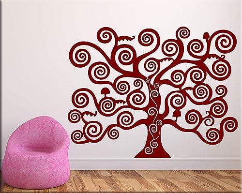 Adesivo Parete Albero Della Vita.Adesivi Murali Albero Della Vita Wall Stickers Albero Klimt
