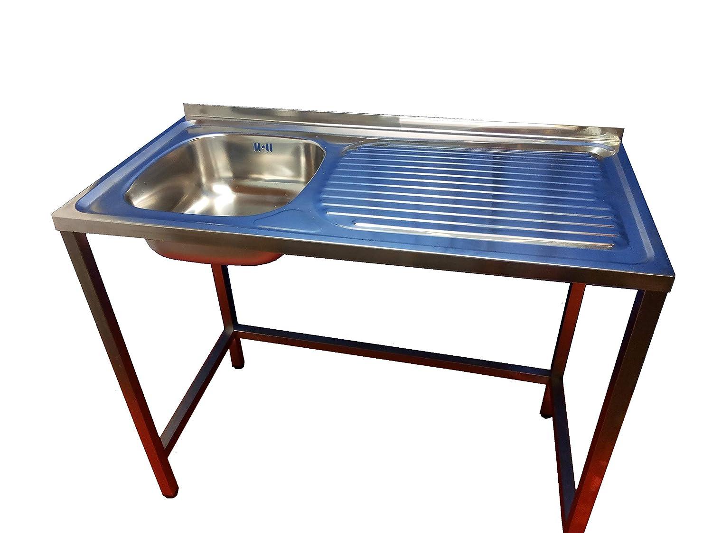 Fregadero de barra para hosteleria, especial hueco lavavajillas