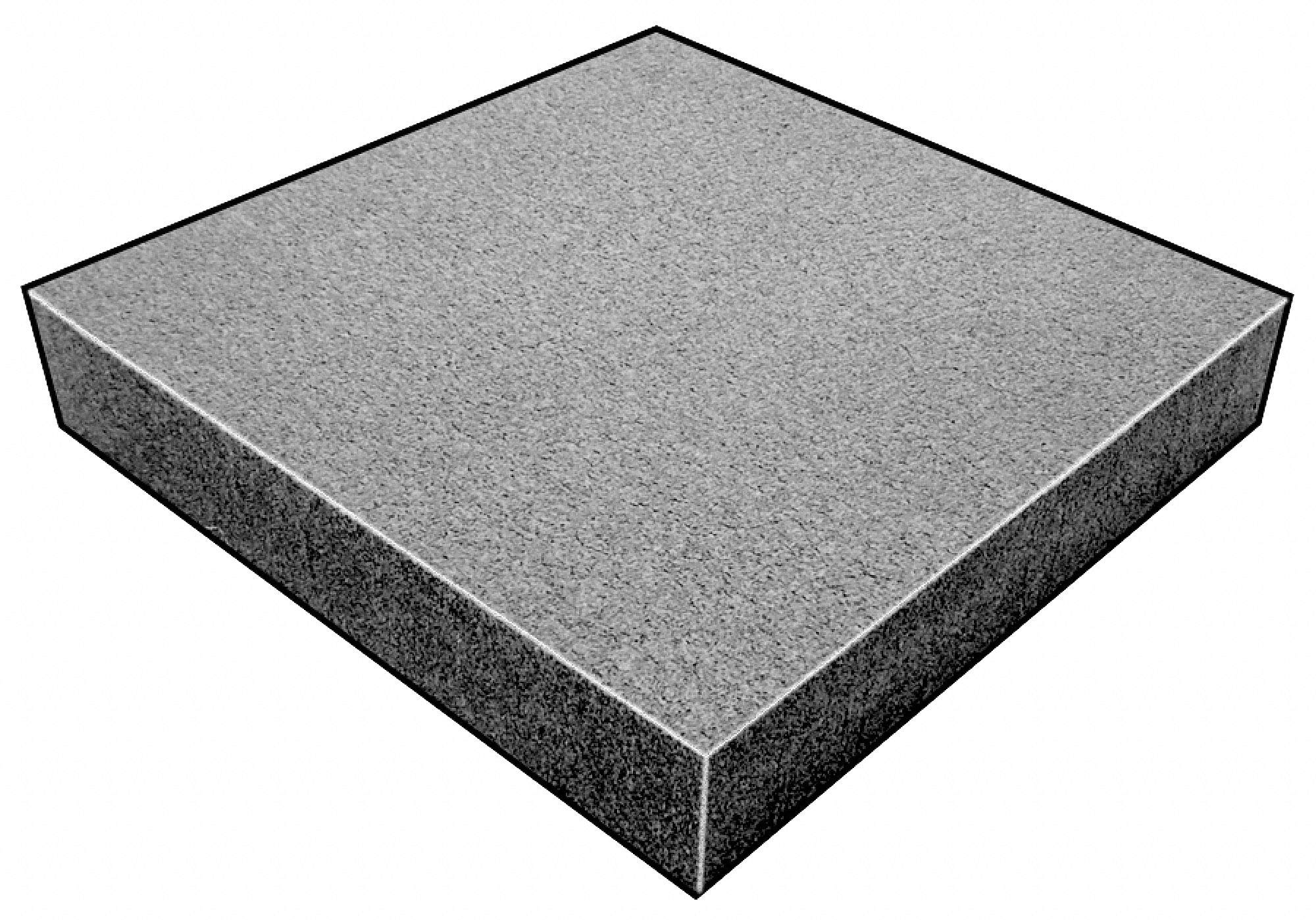 Water-Resistant Closed Cell Foam Sheet, Polyethylene Vinyl, 3/4'' Thick, 12'' W X 12'' L, Charcoal - pack of 5