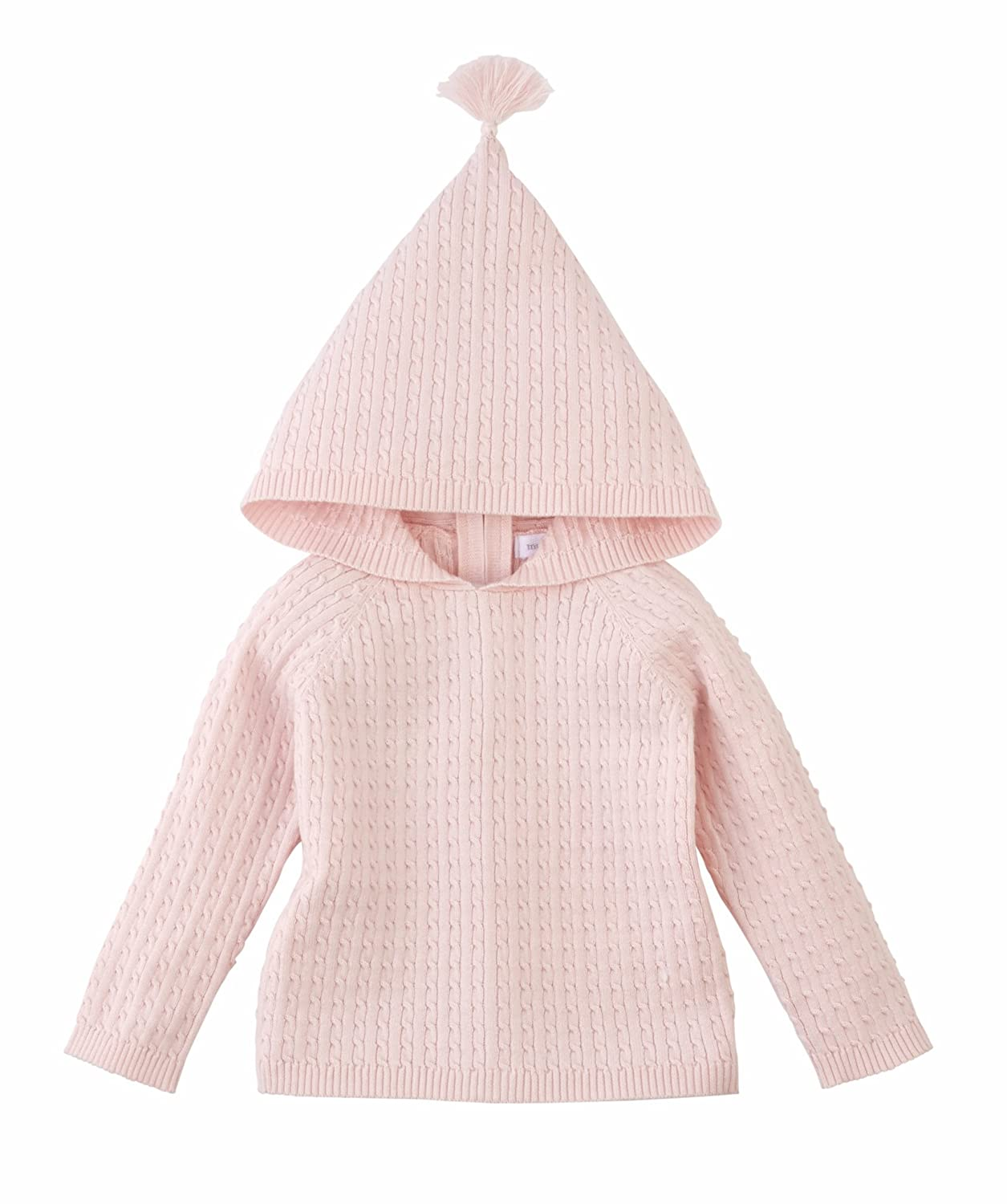 Mud Pie Infant Girls Pink Cable Knit Zip Hoodie