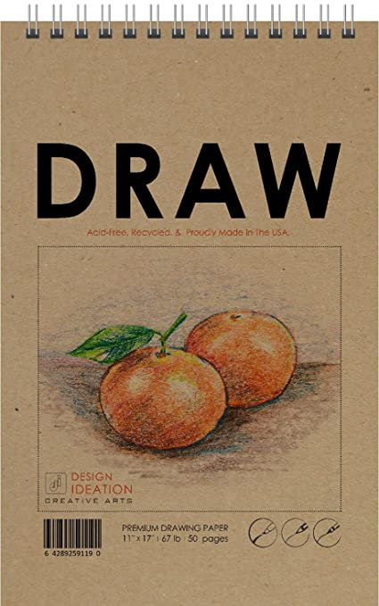 amazon com drawing premium paper drawing book for pencil ink
