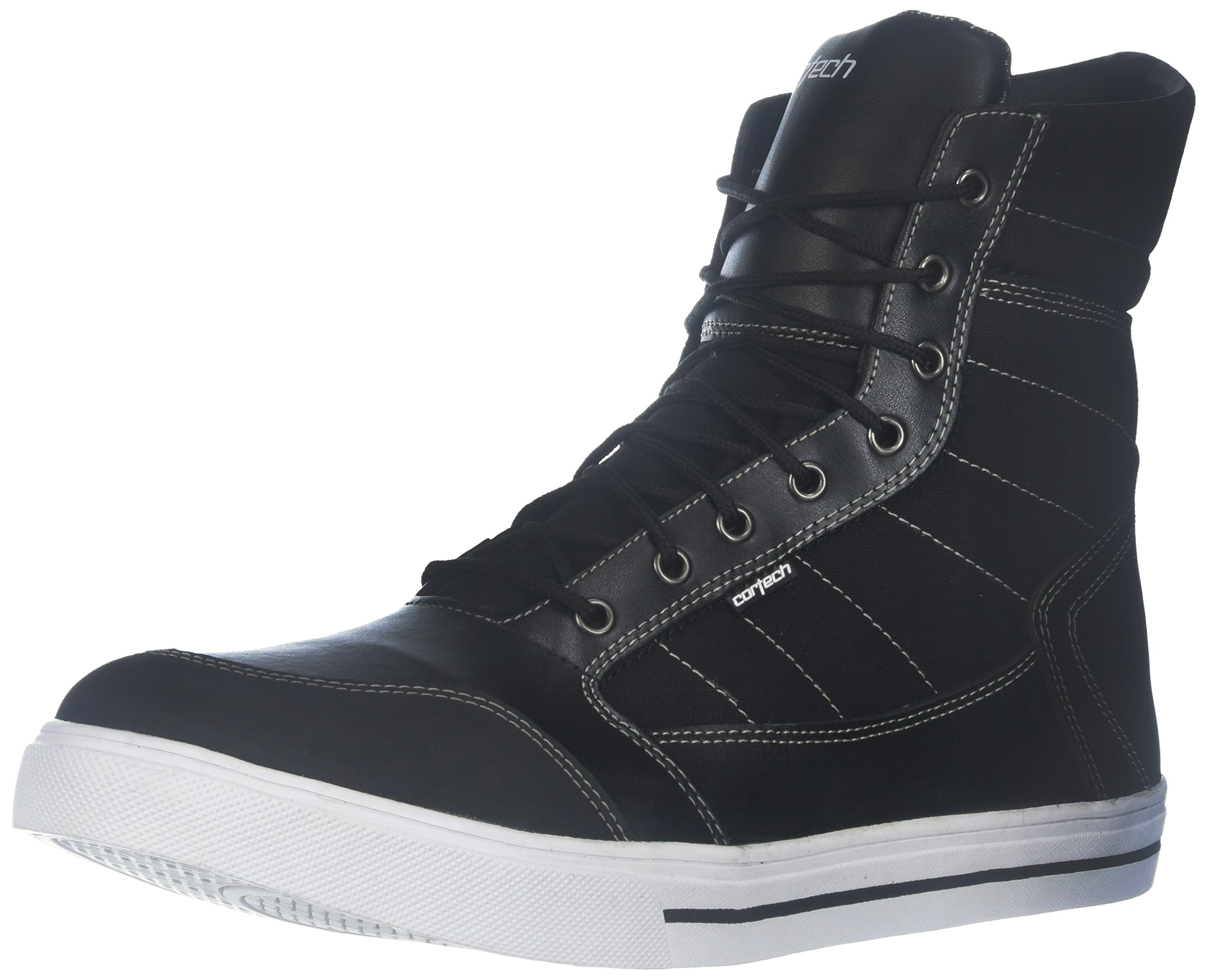 Cortech 8514-6505-46 Men's Vice WP Riding Shoe(White/Black, Size 12), 1 Pack