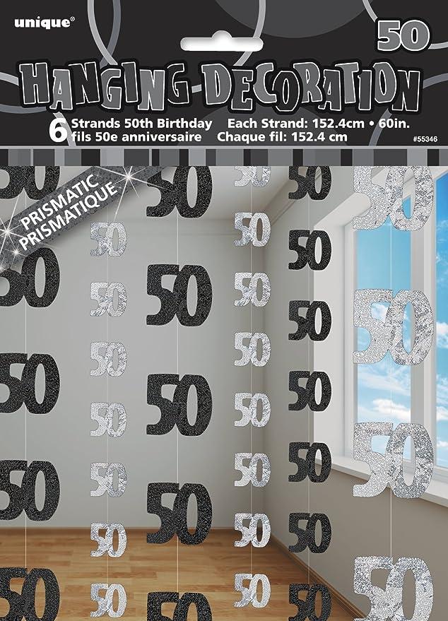 9 opinioni per Unique Party 55346 Decorazioni da Appendere per 50° Compleanno, Confezione da 6,