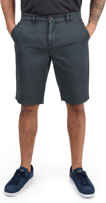 !Solid Viseu Chino Pantalón Corto Bermuda Pantalones De Tela para Hombre De 100% Algodón Regular-Fit
