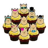 Llama/alpaca Party Pack, comestible decoración para tarta, – para magdalenas de oblea