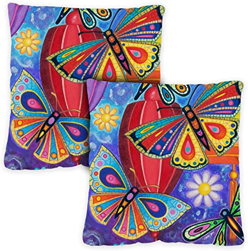 Toland Home Garden 721211 Bright Wings 18 x 18 Inch Indoor/Outdoor